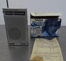 Vintage 70s - Pocket Radio - Saba Peggy AM FM Receiver ~1970er Jahre