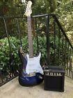 Blue Electric Guitar + Amp