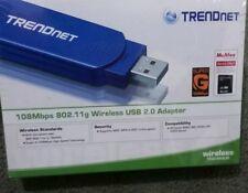 NEW! FAST 108 Mbps USB 2.0 Wireless Wi-Fi Adapter Trendnet TEW-444UB