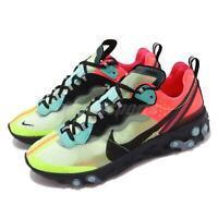 Nike React Element 87 Hyper Fusion Volt Racer Pink Black Men Shoes AQ1090-700