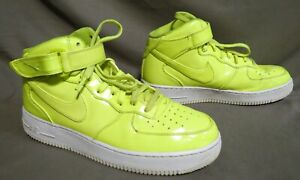 NIKE AIR FORCE 1 HIGH '07 VOLT YELLOW LEATHER A00702-700 BASKETBALL SHOE SIZE 9