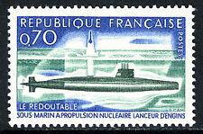 "France 1259, MNH. Nuclear Submarine ""Le Redoutable"", 1969"