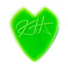 12 (twelve) KIRK HAMMETT Guitar Picks Jazz 3 Neon Green Heart Shape