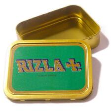 GREEN 2oz RIZLA TIN Storage Smoking Cigarette Unhinged Tobacco Tin