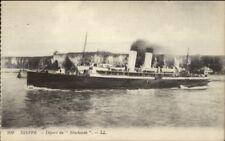 Dieppe France - Steamship SS Newhaven c1915 Postcard