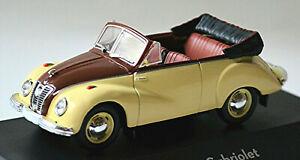 IFA F9 Cabriolet 468 - 1950-56 creme-braun 1:43 Atlas