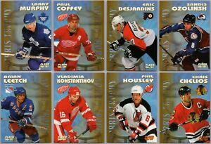 1996-97 FLEER NORRIS HOCKEY INSERT CARDS INSERTS - PICK SINGLES - FINISH SET BV