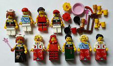LEGO® City Figuren 10x Frau/ Frauen Neu Neuware mit Kleid & Zubehör aus Serie