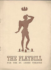 1940 Playbill King Richard II Maurice Evans St. James Theatre