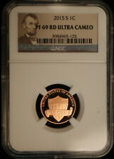 2015 S Lincoln Shield Penny NGC Proof 69 RD Ultra Cameo Brown Label
