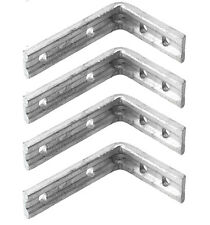 "Pack 4 6X5"" 150X125mm Heavy Duty Shelf Bracket Galvanised Steel Angle Support"