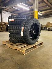 """20x10 A2 Offroad Mo970 Black Wheels 33"""" Mt Tires 8x6.5 Dodge Ram 2500 3500"""