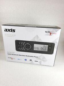 24 Volt Stereo Radio for Truck Tractor 12/24v Bluetooth Single DIN Head Unit USB