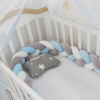 1M Infant Braided Crib Bumper Plush Pillow Fence Sleep Bumper Bed Protection