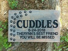 Pet memorial Cat or Dog personalized engraved sandcarved large paver stone.
