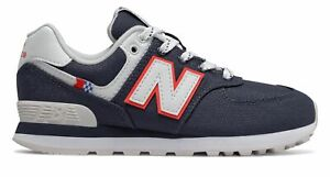 New Balance Kid's 574 Coastal Pack Little Kids Male Shoes Blue with White