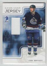 2003-04 ITG BAP MEMORABILIA TODD BERTUZZI GAME USED JERSEY /90 Be Player Canucks