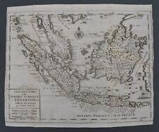 Salmon 1738 ISOLE SUNDA Sonda BORNEO SUMATRA MAPPA Carta Geografica Originale