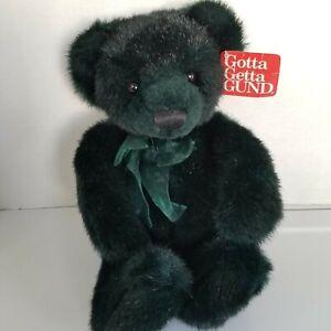 Gotta Get A Gund Emerald Green Teddy Bear Plush Stuffed Animal Toy Handmade 8744