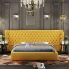XXL Big Wand Paneel Bett Chesterfield Hotel Luxus Design Betten 200x200cm Neu günstig