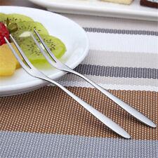 4Pcs 13.5cm Stainless Steel Fruit Fork Kitchen Food Cake Dessert Salad Forks HL