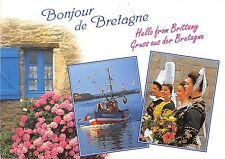 B50876 Breatgne boats bateaux traditionale suites cosrumes de fete multi  france