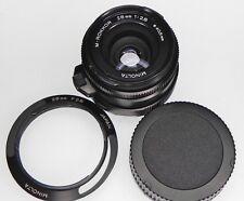 Minolta 28mm f2.8 M-Rokkor Leica M  #1004701 ........... w/Hood