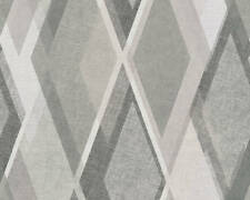 AS Creations Pop Colours Wallpaper Deco Diamond Grey/Silver/Charcoal