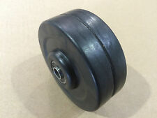 """4"""" Hard Rubber Wheels / Casters w/ 3/8"""" I.D. Sealed Ball Bearings, Set of 4"""