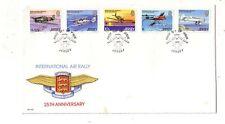 Jersey 1st Day Scott# 208-212 Air Rally 1979 - official cachet (spots) #ox