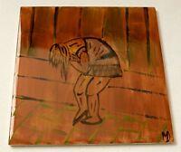 Segno D Originale Dipinto a Mano Ceramica Piastrelle Sicking Bellezza Stuckist