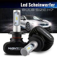 NIGHTEYE 2X H7 LED Scheinwerfer Birnen Leuchte Lampen 6500K 8000LM Xenon Weiß