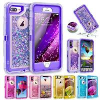 For iPhone XS MAX XR 6/6s/7/8Plus Liquid Glitter Bling Heavy Duty Quicksand Case