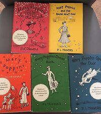 Vintage Set of 5 Hardcover Mary Poppins Books PL / P L Travers (four are 1960s)