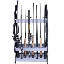 Fishing Rod Holder Rack - Holds 16 Fish Rods - Floor Storage Stand