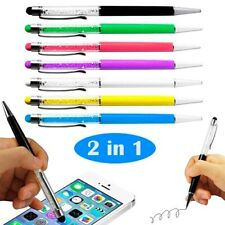 2 in 1 Touch Screen Stylus & Ballpoint Pen Smartphone Samsung iPhone Tablet