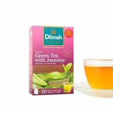 Dilmah GREEN TEA Pure CEYLON TEA With Jasmine Flavoured Ceylon Tea 20 Tea Bags