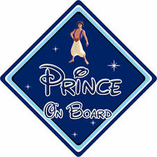 Disney Prince On Board Car Sign - Baby On Board Car Sign - Aladdin DB