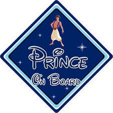 Disney Prince On Board Car Sign – Baby On Board Car Sign – Aladdin DB