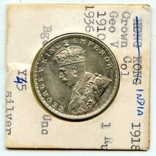 1918 INDIA 1 RUPEE CH BU SILVER COIN!!!!..STARTS@ 2.99