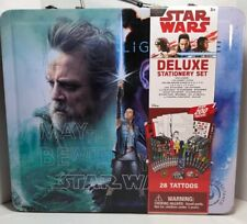 Star Wars Deluxe Stationery Set Notepad Stickers Tattoos Crayons Disney Art Jedi