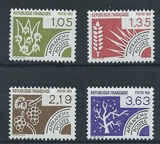 FRANCE 1983 SG2562-2565 Pre-cancelled. The Four Seasons. Mint MNH