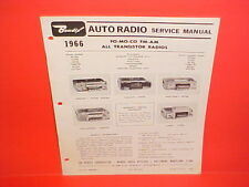 1966 FORD MUSTANG GT THUNDERBIRD GALAXIE COMET BENDIX AM-FM RADIO SERVICE MANUAL