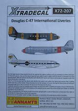 Xtradecal 1/72 X 72207 Douglas C-47 Standing internacional libreas DECAL set