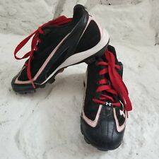 Under Armour Girls Baseball Cleats Black Lt Pink Sz 2Y Sports Athletic Shoes