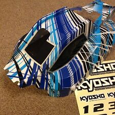 NEW KYOSHO  DBX 2,  COLOUR BLUE, BODY SHELL AND DECALS, TRB501