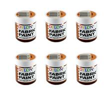 DYLON Fabric Paint Set - Bronze Paint - Pack of 6