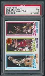 1980 Topps Basketball Larry Bird Magic Johnson RC Rookie Julius Erving HOF PSA 7