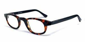 Calabria 843 Techno Optical Round Reading Glasses w/Hard Case in Black +3.00