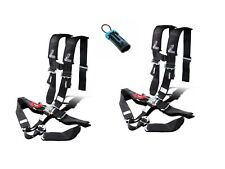 """Dragonfire Seat Belt Harness 5 Point 3"""" Padded Black Pair Bypass Can Am Polaris"""